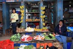 Comercialización de la mañana, Patan, Nepal Imágenes de archivo libres de regalías