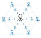 Comercialización de niveles múltiples Imágenes de archivo libres de regalías