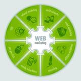 Comercialización del web infographic Foto de archivo