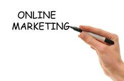 Comercialización en línea del Internet Fotografía de archivo libre de regalías