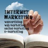 Comercialización en línea del Internet. Fotografía de archivo libre de regalías