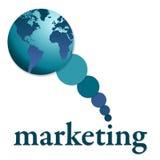 Comercialización global ilustración del vector