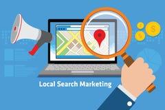 Comercialización local de la búsqueda Foto de archivo libre de regalías