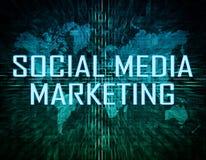 Comercialización social de los media Imágenes de archivo libres de regalías