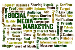 Comercialización social de los media Fotografía de archivo