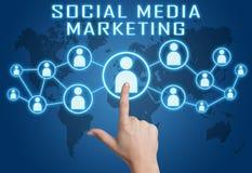 Comercialización social de los media Fotos de archivo libres de regalías