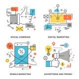 Comercialización y publicidad libre illustration