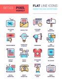 Comercialización y publicidad Imagen de archivo libre de regalías