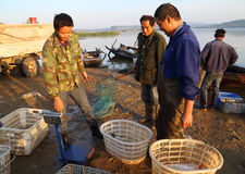 Comerciante de la pesca Fotografía de archivo libre de regalías