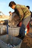 Comerciante de la pesca Foto de archivo libre de regalías