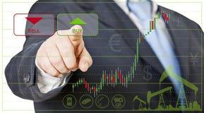 Comerciante do homem de negócios Imagens de Stock