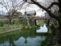 Comerciante House And Moat de Hachiman, Shiga Japão imagem de stock