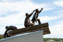 Comerciante Mariner Public Monument - Sydney - Nova Scotia imagen de archivo libre de regalías