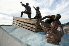 Comerciante Mariner Public Monument - Sydney - Nova Scotia fotografía de archivo