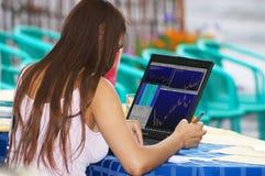 Comerciante no trabalho Foto de Stock Royalty Free