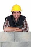 Comerciante sonriente Imagen de archivo libre de regalías
