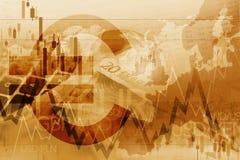 Comerciante Trading Index do Euro ilustração royalty free