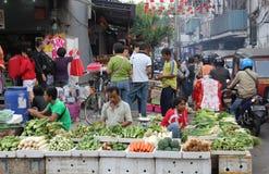 Comerciantes de la calle Foto de archivo