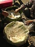 Comerciantes pequenos do alimento Foto de Stock
