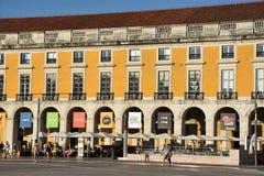 comercio执行里斯本葡萄牙praca 免版税库存图片