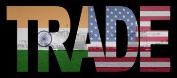 Comercio con indio y americano stock de ilustración