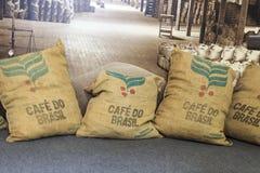 Comercio de café Santos Brazil Royalty Free Stock Images