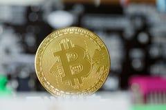 Comercio de Cryptoinvestment de la moneda de Bitcoin Digital imagen de archivo libre de regalías