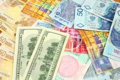 Comercio de dinero en circulación Imagen de archivo