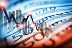 Comercio de divisas euro Foto de archivo libre de regalías
