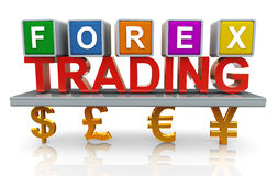 comercio de la divisa 3d Foto de archivo libre de regalías