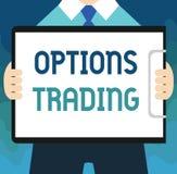 Comercio de opciones del texto de la escritura El concepto que significaba diversas opciones para hacer mercancías o servicios se stock de ilustración