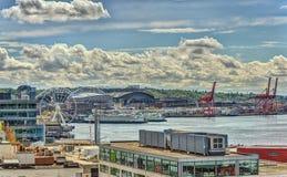 Comercio de Seattle Imagen de archivo libre de regalías