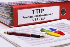 Comercio de TTIP y sociedad transatlánticos de la inversión Imágenes de archivo libres de regalías
