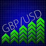 Comercio del diseño gráfico relacionado ilustrando crecimiento de la moneda Fotografía de archivo libre de regalías