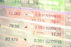 Comercio del mercado de acción Imágenes de archivo libres de regalías