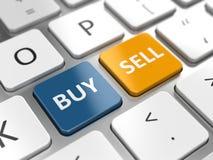 Comercio del negocio o concepto en línea de la acción ilustración del vector