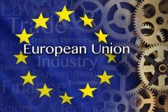 Comercio e Industria - unión europea Imagen de archivo libre de regalías