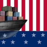 Comercio económico de Estados Unidos stock de ilustración