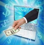 Comercio electrónico del Internet Fotografía de archivo libre de regalías