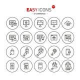 Comercio electrónico fácil de los iconos 40b