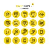 Comercio electrónico fácil de los iconos 40c