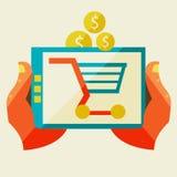 Comercio electrónico y diversas compras libre illustration