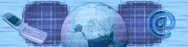Comercio electrónico y tecnología de WW Imágenes de archivo libres de regalías