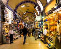 Comercio enérgico en el bazar magnífico fotografía de archivo libre de regalías