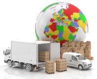 Comercio en Europa - hecha en Europa - transporte Fotografía de archivo