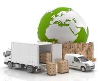 Comercio en Europa - transporte Foto de archivo libre de regalías