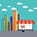 Comercio en línea Foto de archivo libre de regalías