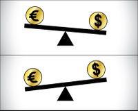 Comercio global de las divisas - dólar y libra británica Fotografía de archivo