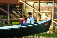 Comercio para la población de Birmania Imágenes de archivo libres de regalías