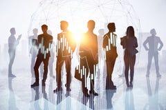 Comercio, reunión y concepto de la acción stock de ilustración